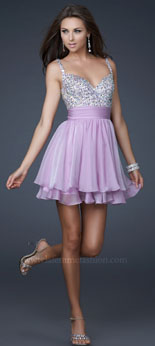 Photo of girl wearing short party dress